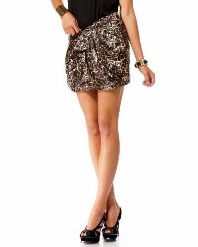 Leopard Ruffle Silk Skirt