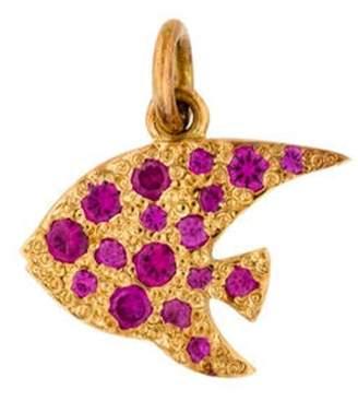 Dodo 18K Ruby Angelfish Charm yellow Dodo 18K Ruby Angelfish Charm