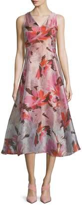 LK Bennett L.K.Bennett Women's Prula Floral Print Even Flared Dress