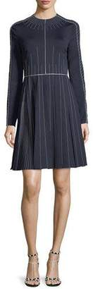 Valentino Long-Sleeve Techno Jersey Dress
