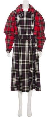 Burberry Plaid Long Coat w/ Tags