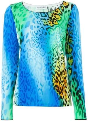Leonard leopard print top