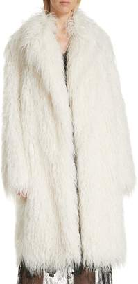 Robert Rodriguez Mongolian Faux Fur Coat