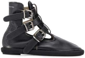 MM6 MAISON MARGIELA side buckles boots