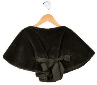 Il Gufo Girls' Faux Fur Vest