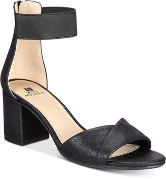 White Mountain Ever Two-Piece Block-Heel Sandals, Created for Macy's Women's Shoes