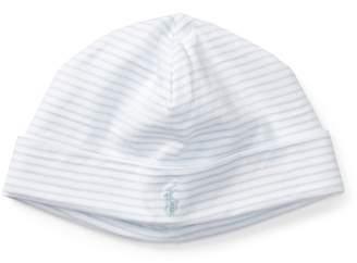 Ralph Lauren Striped Cotton Jersey Cap