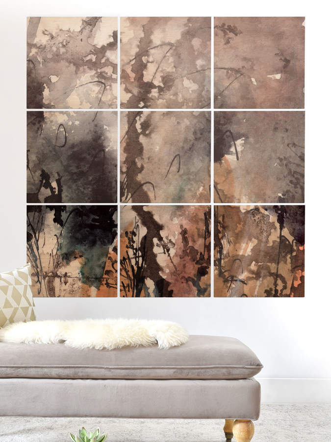 Brown Grass by Ginette Fine Art (Wood) (Set of 9)