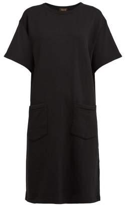 Chimala Patch Pocket Cotton Tunic Dress - Womens - Black