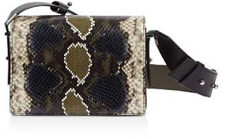 AllSaints Versailles Small Snakeskin-Embossed Leather Crossbody