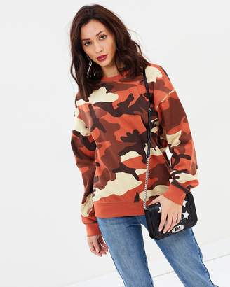 Missguided Camo Sweatshirt