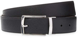 a. testoni Reversible Embossed Leather Belt