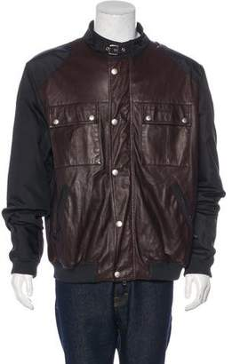 Gucci Leather-Trimmed Bomber Jacket