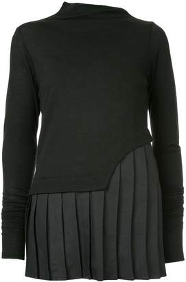 Taylor pleat detail top