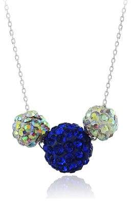 Lord & Taylor Crystal Cluster Pendant Necklace