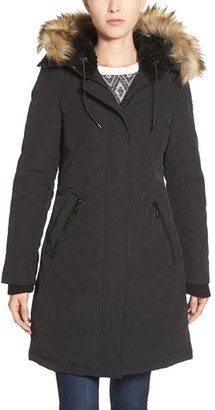Women's Vince Camuto Down & Feather Fill Parka With Faux Fur Trim $315 thestylecure.com