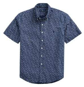 Polo Ralph Lauren Floral-Print Short-Sleeve Oxford Shirt