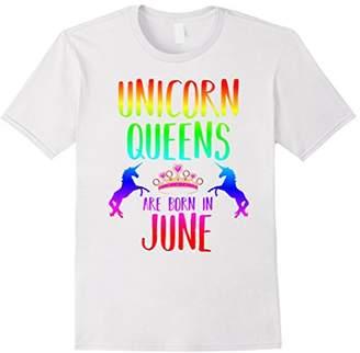 Unicorn Queens are Born in June t-shirt