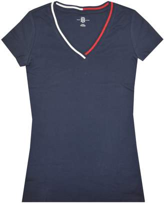 Tommy Hilfiger Women Signature Short Sleeve V-Neck Logo Tee (S, )