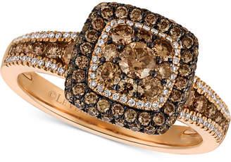 LeVian Le Vian Chocolatier® Diamond Statement Ring (1 ct. t.w.) in 14k Rose Gold