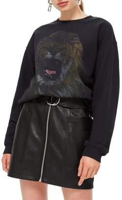 Topshop Lion Sweatshirt