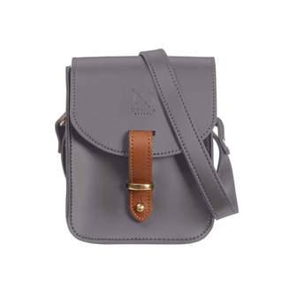 N'Damus London - Mini Elizabeth Grey Leather Crossbody Satchel Bag