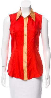 Prada Silk Sleeveless Top