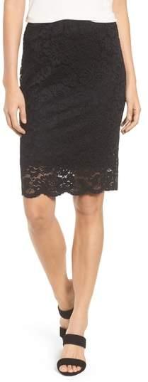 Filippa Scalloped Lace Skirt