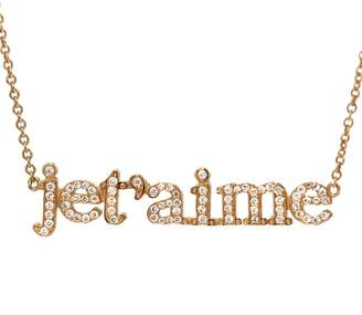 Jennifer Meyer Diamond Je T'aime Necklace - Rose Gold