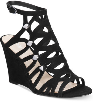 Bar Iii Lania Wedge Sandals, Only at Macy's Women's Shoes $79.50 thestylecure.com