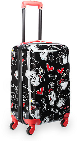 Disney Mickey and Minnie Mouse Rolling Luggage - 21''
