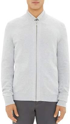 Theory Lievos Textured Zip Cardigan