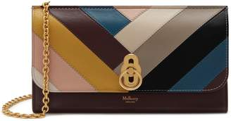 Mulberry Amberley Clutch Multicolour Smooth Calf Chevron