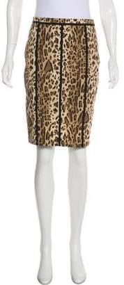 Blumarine Printed Pencil Skirt