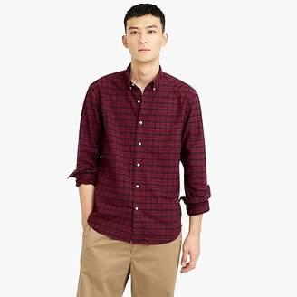 J.Crew Slim American Pima cotton oxford shirt with mechanical stretch in Black Watch plaid