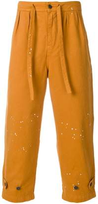 Paura paint splatter trousers