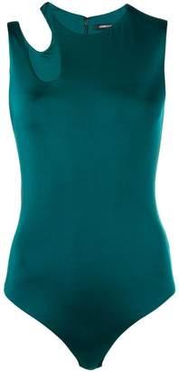 Cushnie asymmetric cut-out bodysuit