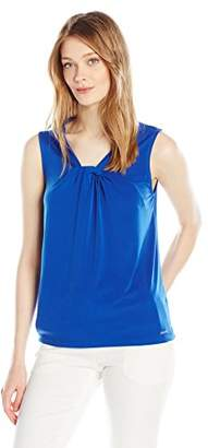 Calvin Klein Women's Sleeveless Matte Jersey Cami in Knot Neck