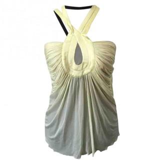 Gianni Versace Yellow Silk Top for Women