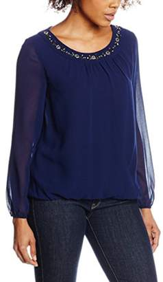 Precis Petite Precis Women's Stacey Beaded Neck Blouse