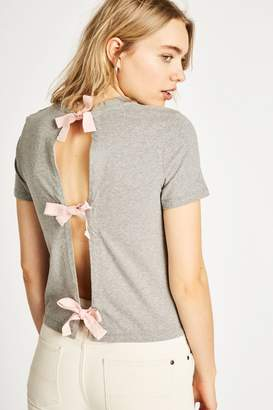 Jack Wills Hazelcroft Tie Back T-Shirt