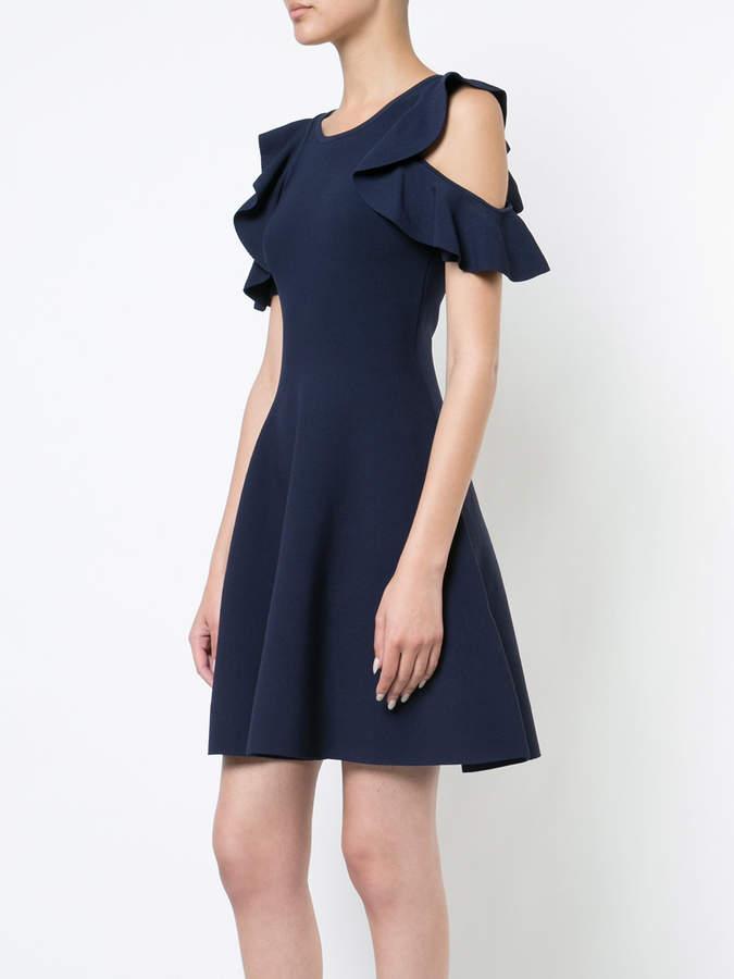 Milly cold shoulder flared dress