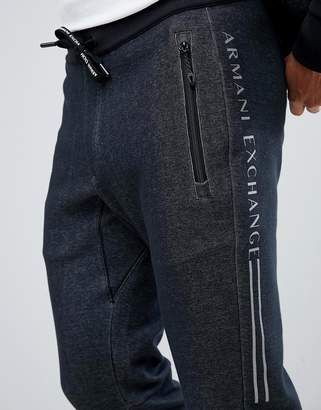 Side Logo Sweat Joggers In Black