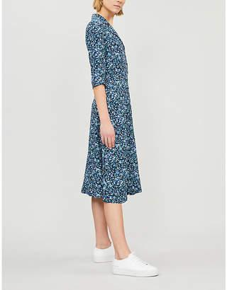 Claudie Pierlot Response floral-print crepe shirt dress