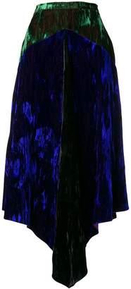 Christopher Kane two-tone velvet skirt