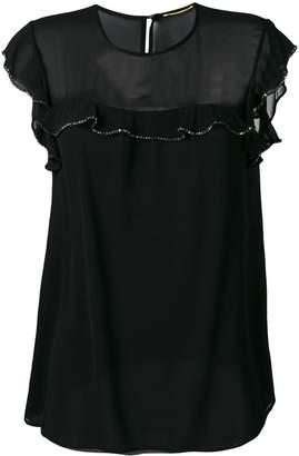 Saint Laurent crystal embellished blouse