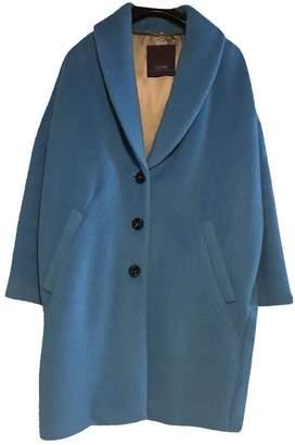 Laurèl Blue Wool Coat for Women