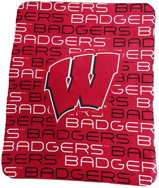 NCAA Logo Brand Wisconsin Badgers Classic Fleece Blanket