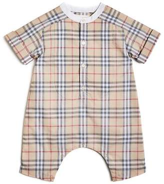 Burberry Unisex Colton Check Playsuit - Baby