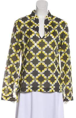 Tory Burch Embellished Printed Top